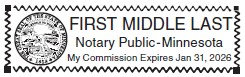 MINNESOTA  NOTARY STAMPS & NOTARY ITEMS