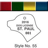 Dog & Cat License Tags - Colored Aluminum