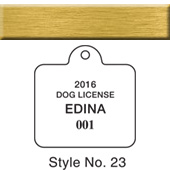 Dog & Cat License Tags- Brass